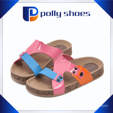 Colorful PU Upper Hot Sale Ladies Cork Slipper