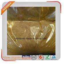 Revestimiento en polvo de pintura en polvo de epoxy metálico color amarillo uniforme de tamaño de partícula