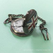 Лучший сплав карманные часы цепь с движением флаг Японии