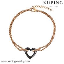 Joyería de Guangzhou de la moda 74417-xuping, pulseras baratas de la amistad del oro