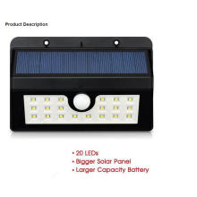 Wall Mounted Waterproof LED Solar Power Garden Light
