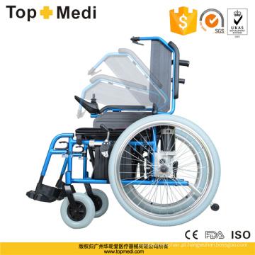 Topmedi Medical Equipment Cadeira de rodas elétrica dobrável de alumínio