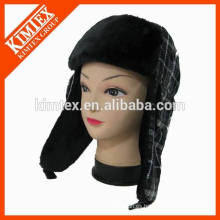 Sombrero caliente de la nieve del earflap de la piel de la falsificación de la alta calidad de la venta caliente del invierno