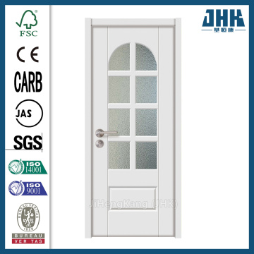 JHK Solid Wood Glass Bathroom Interior Door