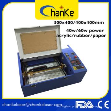 Máquina a laser CO2 de corte e corte de carimbo de borracha 400X400mm