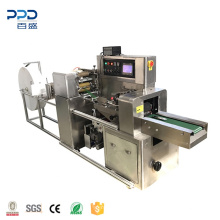 Automatic 3.7 kw 3 side seal single serve wet wipes making machine