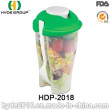 Copo plástico do abanador da salada da alta qualidade com forquilha (HDP-2018)