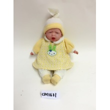 "20"" Yellow Dress Sleeping Baby Vinyl Doll"