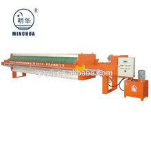 1000 filtro de cámara de deshidratación de lodo automático hidráulico prensa