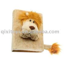 moldura de leão recheado, pelúcia animal brinquedo imagem ablum