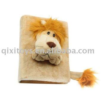 marco de foto de león relleno, ablum de imagen de juguete de felpa de animal