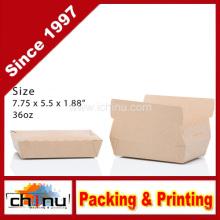 Twin Lock Take Out Kraft Caja de papel (130113)