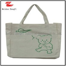 canvas leisure bag with rope handle
