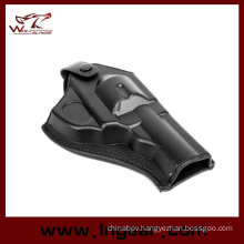 Short Style Army Force Leather Revolver Pistol Holsters Leather Holster