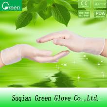 Прозрачная виниловая промышленная перчатка