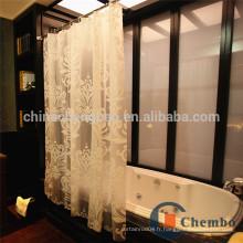 Rideau de douche en fibre de verre sans fil imprimé