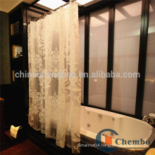 Printed snowflake hookless bath shower curtain