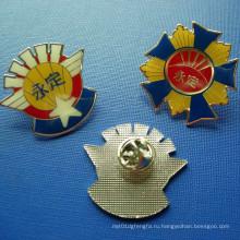 Изготовленный на заказ клей металлический герб, эпоксидная смола знак (GZHY-BADGE-029)
