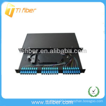 24 Port 19' Rack Mount Sliding Patch Panel (Fiber Optic Box)