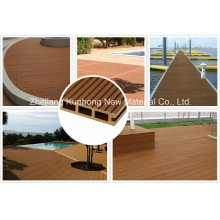 Outdoor Waterproof--Recycled Non-Capped or Regular WPC Flooring on Hot Sale