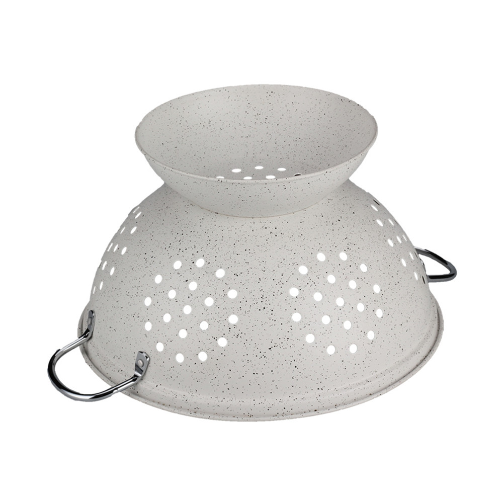 Household Painting White Colander