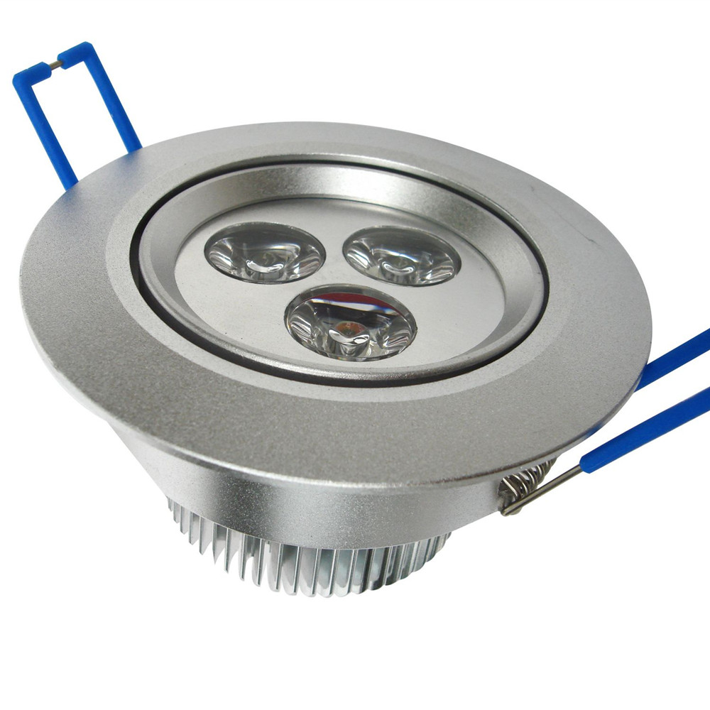3w round led recessed down light