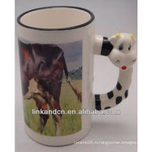 Haonai 11oz прекрасная корова ручка керамические кружки с вашим дизайном