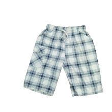 Shorts de algodão do menino de algodão com cheque impresso (SP003)