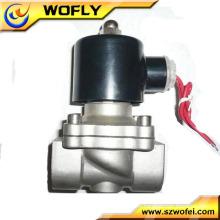 Vanne à électrovanne à vanne solénoïde normalement fermée Valve en laiton Valve en acier inoxydable