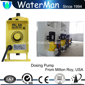 Chlorine dioxide generation system with water tester
