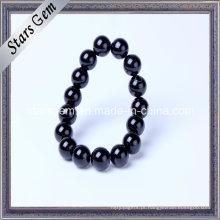 Natural pulseira de ágata preta para jóias