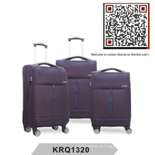 Aircraft Wheels EVA Big Handle Soft Nylon Trolley Luggage (KRQ1320)