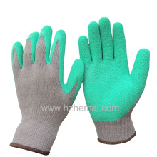 Cotton Gloves Latex Dipped Garden Gloves Safety Work Glove