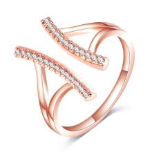 Nova moda única cz diamante ajustável anel aberto (cri1026)