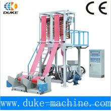 PE plástico doble tornillo una máquina de soplado de película de dos colores rayado de color (SD-45 * 2)