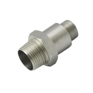 CNC machined stainless steel parts thread pipe anodize
