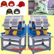 Máquina de bordar de alta velocidade 2014 Elucky Two Heads para casa / indústria / comércio