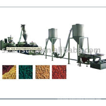 Wood plastic composite pelleting machinery line