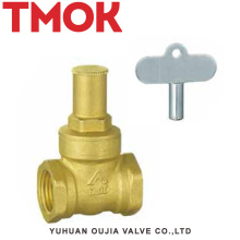 chrome plated with lock handle brass gate valve
