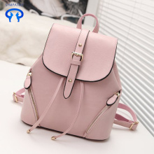 Korean fashion PU leather schoolbag for girls