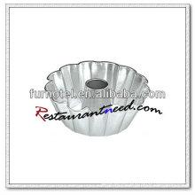 V423 Alumínio Alodado Anodizado Fluted Bundt Cake Pan