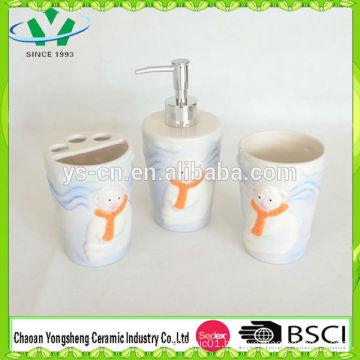 Cute Baby Bear Ceramic Bathroom Set for Kids