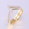 Los últimos diseños Couple Ring Gold Plating Wedding Rings