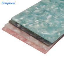 Guangzhou Private custom fancy translucent stone acrylic sheet