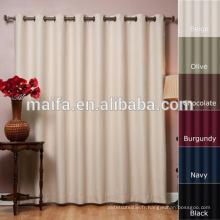 Les derniers modèles de rideaux 100% polyester, teinture, tissus à l'ombre naturelle, tissu rideau antidouleur