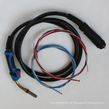 Tocha de soldadura do gás da tocha de soldadura do fornecedor 24KD MIG de China com comprimento de cabo de 5M