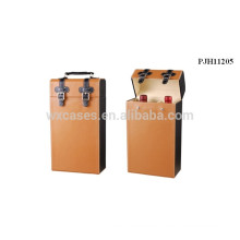 professional high quality leather wine case for 2 bottles from China manufacturer