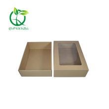 Square brown kraft paper boxes
