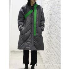 Loose Rigid Medium-length Cotton-padded Coat