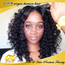 Best Quality 5A grade malaysian human hair kinky curly u part wig